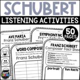 Franz Schubert Composer Listening Activities, January