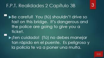 Frases Para Traducir Capítulo 3B Realidades 2