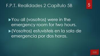 Frases Para Traducir Capítulo 5B Realidades 2