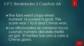 Frases Para Traducir Capítulo 6A Realidades 2
