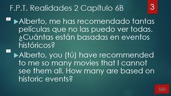 Frases Para Traducir Capítulo 6B Realidades 2