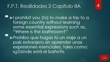 Frases Para Traducir Capítulo 8B Realidades 2
