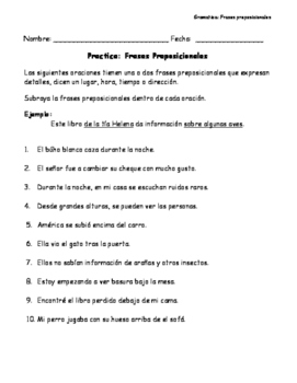Frases Preposicionales