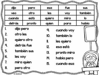 Frases con las Palabras del uso Frecuente
