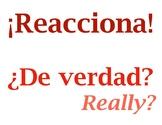 Frases de reacción / Spanish Reaction Phrases