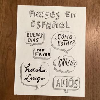 Frases en español - Word wall - Spanish phrases Bulletin b