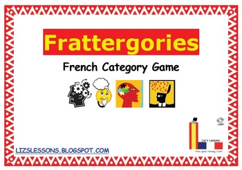 Frattergories! French Category Game!