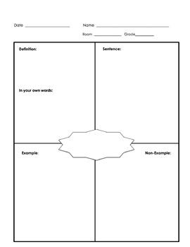 Frayer Map Grades 1-2