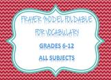 Frayer Model Foldable
