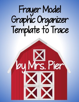 Frayer Model Graphic Organizer to Trace