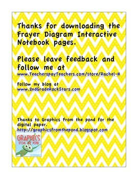 Frayer Model Interactive Notebook Page