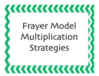 Frayer Model Multiplication Strategies