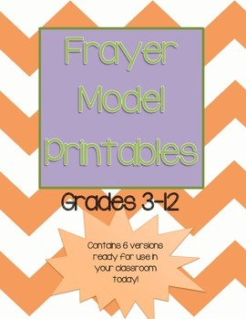 Frayer Model Printables