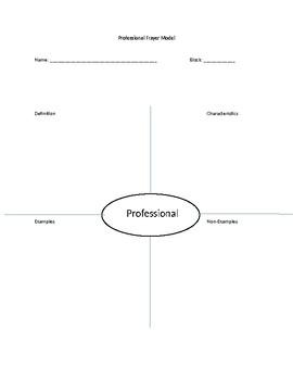 Frayer Model - Professional