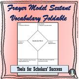 Frayer Model Vocabulary Foldable