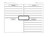 Frayer Model Template with lines