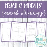 Frayer Model Template - Includes Fully Editable Version and 4 Different Sizes
