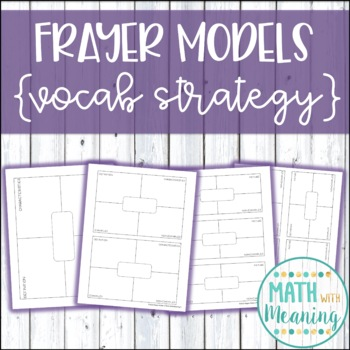 Frayer Model Template - Includes Editable Version and 4 Di