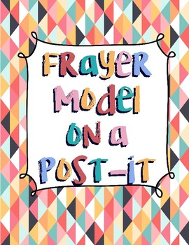 Frayer Model Template on a Post It
