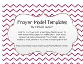 Frayer Model Templates