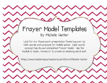 Frayer Model Templates