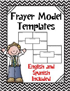 Frayer Model Templates (English and Spanish!) (Freebie!)