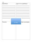 Frayer Model- Vocabulary Organizer