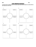 Frayer Model Worksheet-4 words