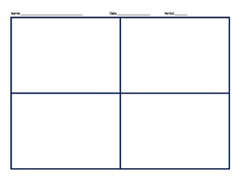 Frayer Model for Math Vocab