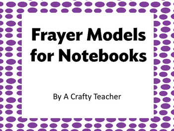 Frayer Model for Notebooks
