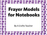 Frayer Model for Notebooks