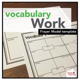 Frayer Model for Vocabulary Work
