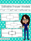 Editable Frayer Models For Mathematics Vocabulary (Prove or Draw it!)