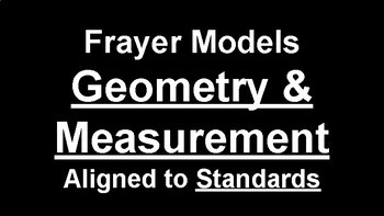 Frayer Models for 6-8 Geometry & Measurement Standards