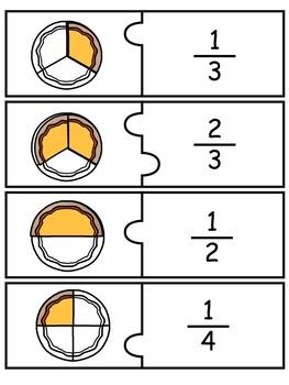 Fraction Puzzles - Math Center