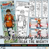Freak The Mighty, Body Biography Project Bundle, For Print and Digital