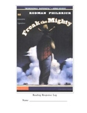 Freak The Mighty Reading Response Log