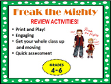 Freak The Mighty Review Activities