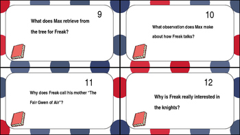 Freak The Mighty Task Cards Ch. 1-4
