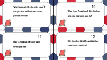 Freak The Mighty Task Cards Ch. 11-13
