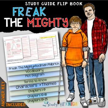FREAK THE MIGHTY NOVEL STUDY LITERATURE GUIDE FLIP BOOK