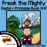Freak the Mighty Novel Study: vocabulary, chapter question