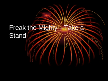 Freak the Mighty Anticipation Guide Game