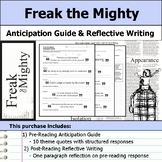 Freak the Mighty - Anticipation Guide & Reflection