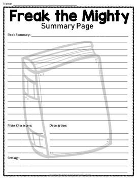 Freak the mighty book pdf