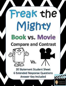 Freak the Mighty Book vs. The Mighty Movie