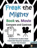 Freak the Mighty Book vs. The Mighty Movie Comparison