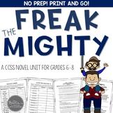 Freak the Mighty Novel Unit Common Core Aligned
