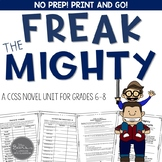 Freak the Mighty Novel Unit Common Core Aligned