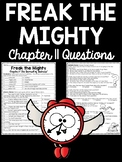 Freak the Mighty Chapter 11 reading comprehension worksheet; Realistic Fiction